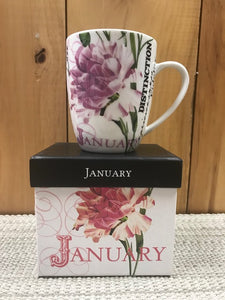 Flower Of The Month Mug January