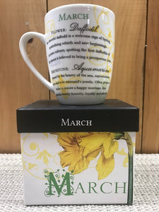 Flower Of The Month Mug March