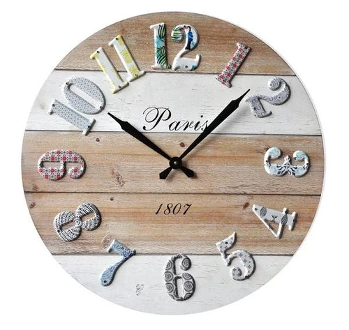 Popped Numbers Wall Clock