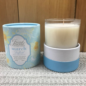 Flower Of The Month Secret Jewels Soy Candle 10oz March