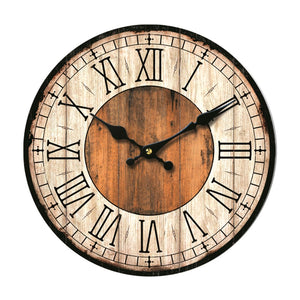 Rustic Brown Wall Clock 14""