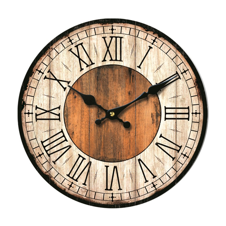 Rustic Brown Wall Clock 14