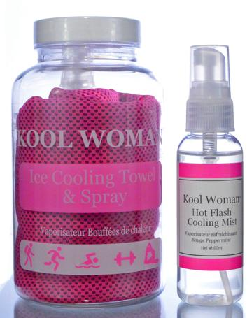 Kool Woman Kooling Towel With Spray-Other Body Care, Home Fragrance-Essential Oils-Ella's Keeping Company
