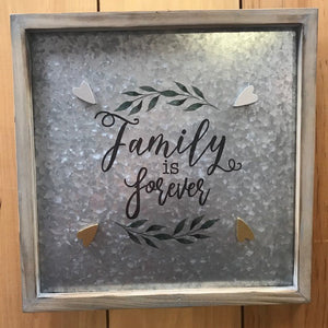 Family Metal Magnet Board Lrg.