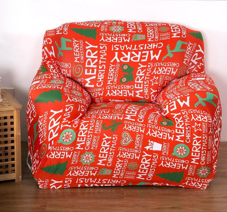 Superb Christmas Stretch Couch Cover Sofa Cover Topgears Shop Machost Co Dining Chair Design Ideas Machostcouk