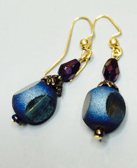 Blue Chameleon Earrings