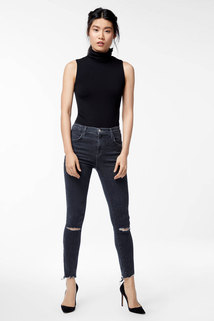 Alana High Rise Cropped Super Skinny - Ashes