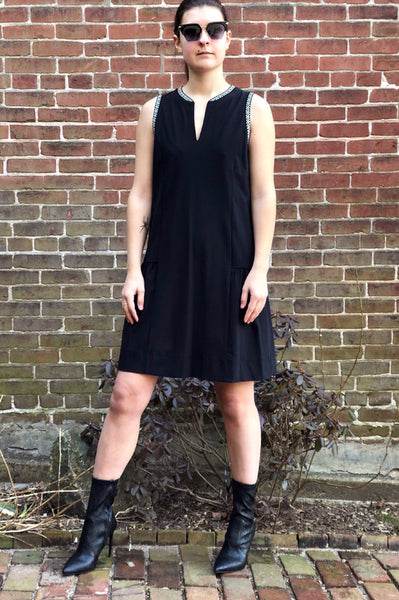 V Neck Dress - Noir