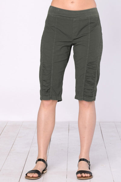 Bermuda Crop Shorts - Oak Moss