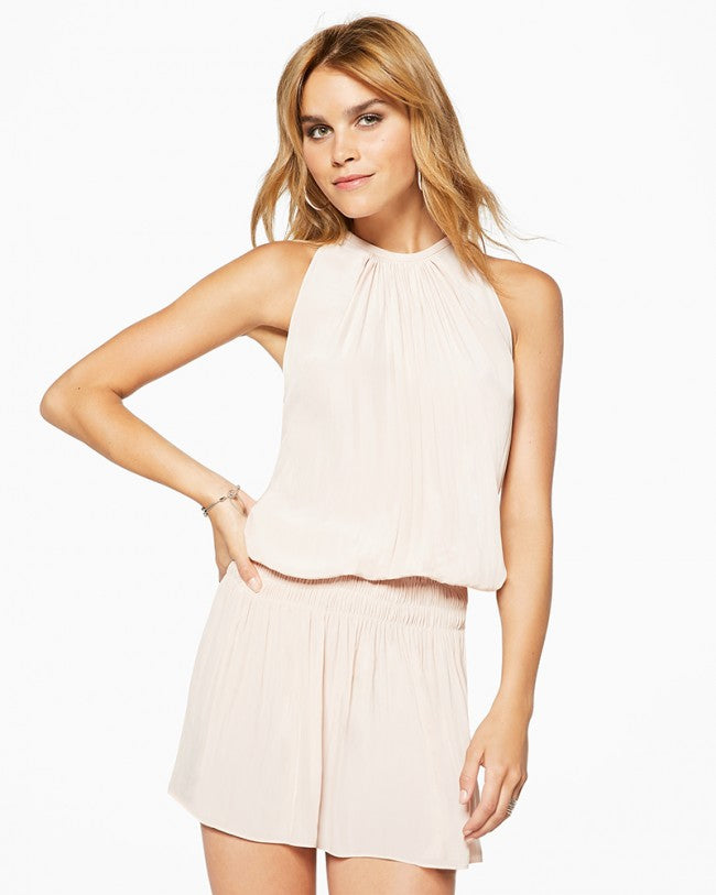 Paris Sleeveless Dress - Blush