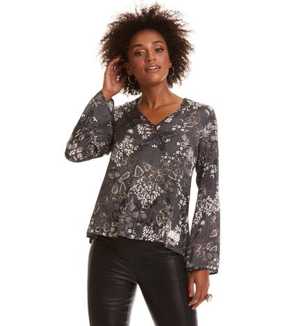 Magic Garden Blouse - Asphalt