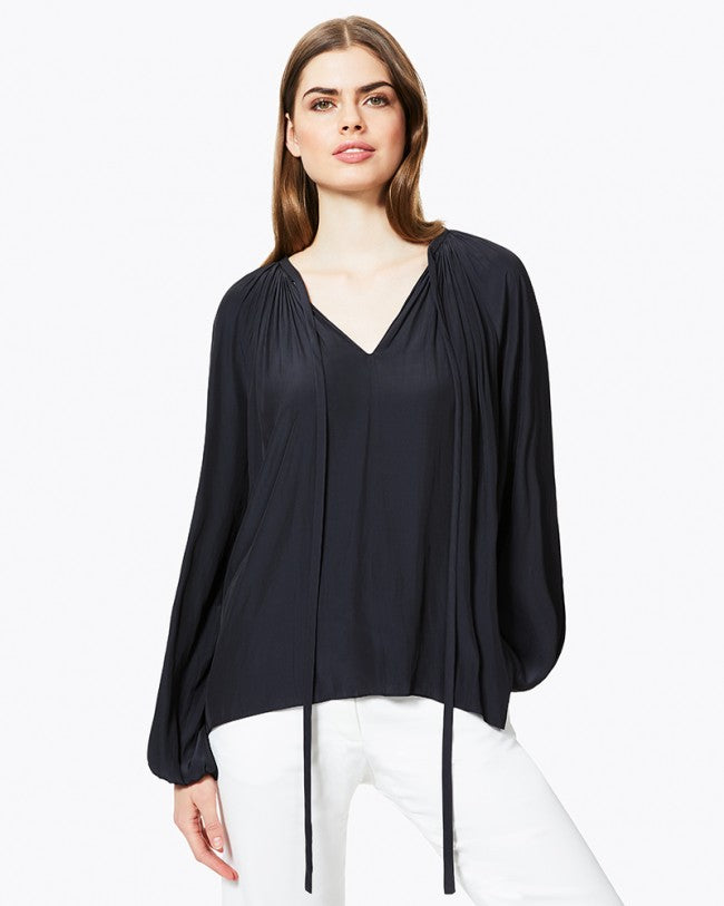 Paris Long Sleeve Top - Black