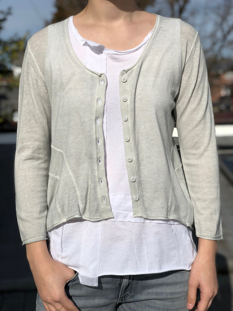 Scoop Cardigan - Light Grey