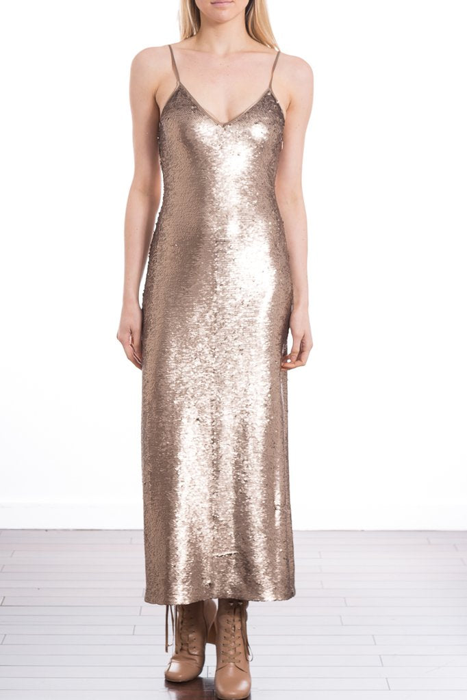 Sequin Emmalyn Dress - Pewter