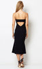 Te Amo Scoop Midi Dress - Black