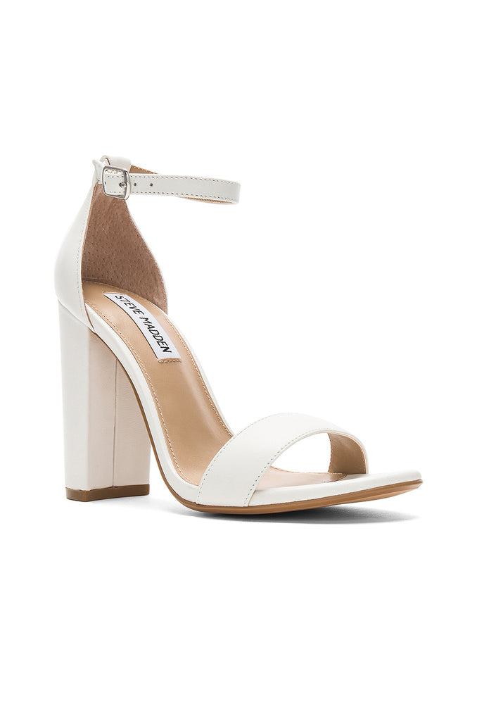 Carron Heels - White Leather