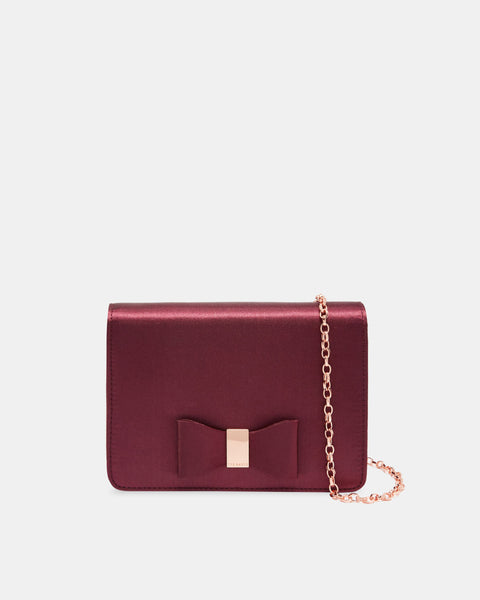 Eveelyn Looped Bow Evening Bag - Deep Purple
