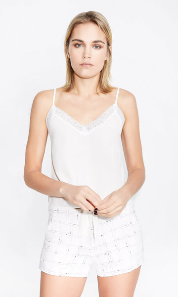 Zoe Lace Cami - White