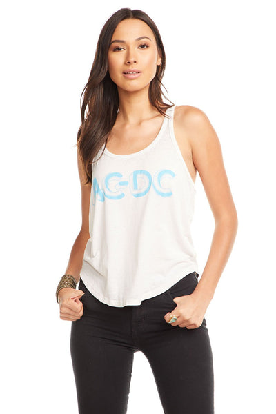 Vintage Jersey Cropped Racerback Tank - ACDC