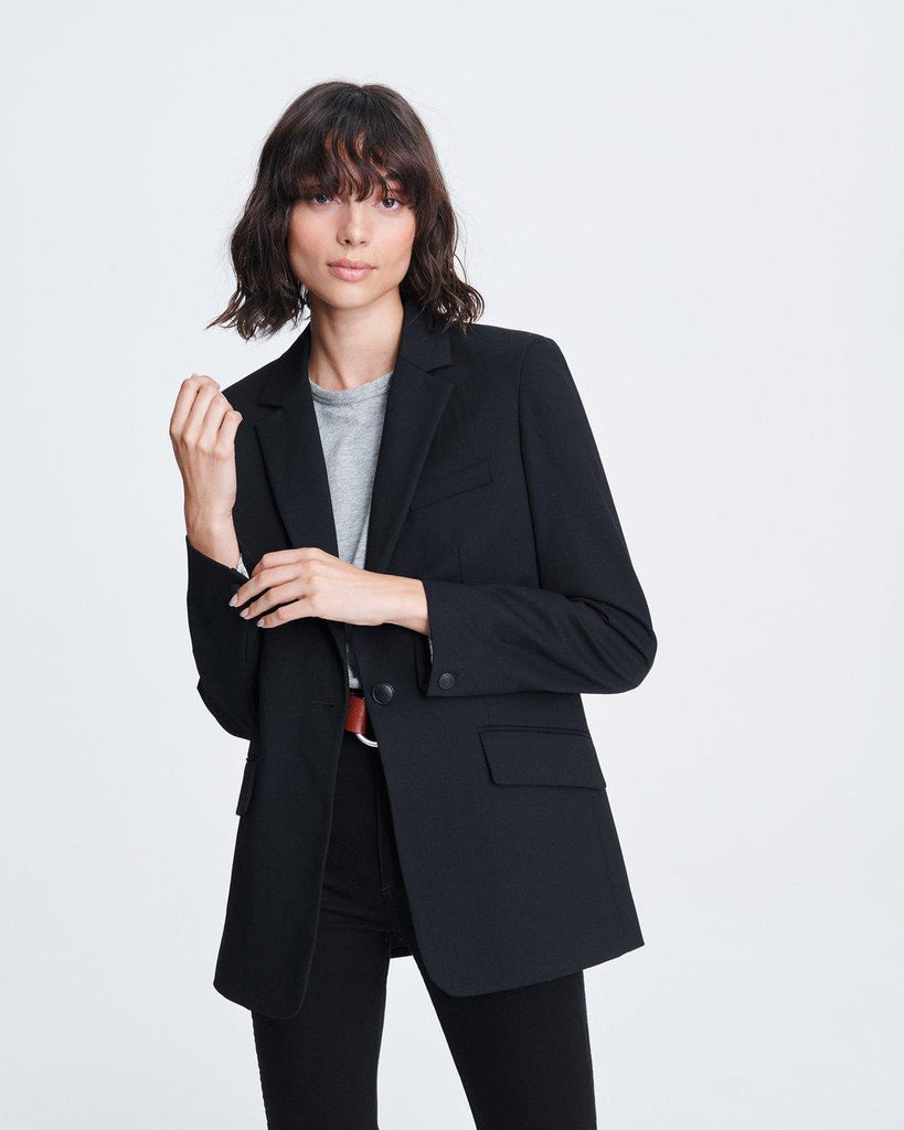 Ames Twill Blazer - Black