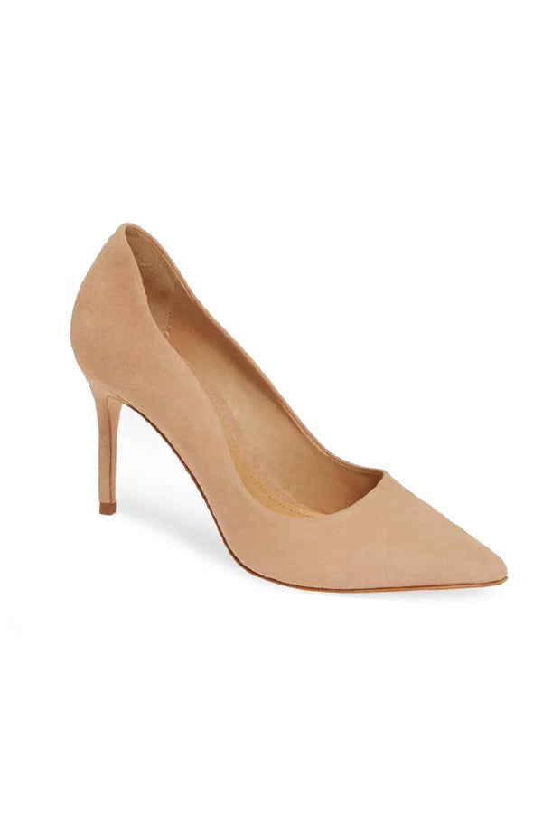 Analira Mid Heel Pump - Honey Beige Suede
