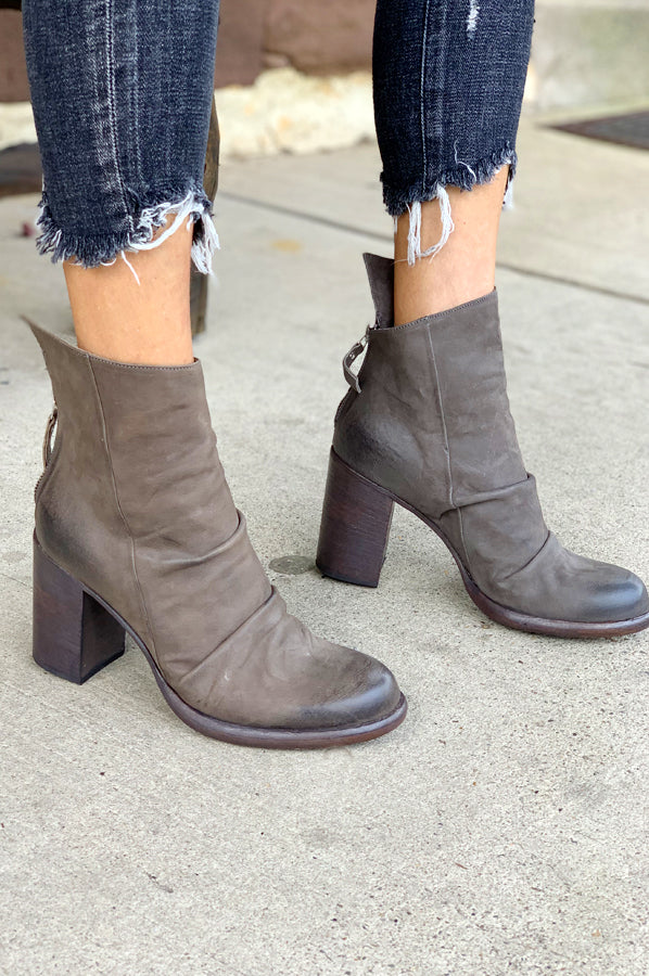 Leather Boot - Asfalt