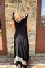 Asymmetrical Dress - Black / Beige