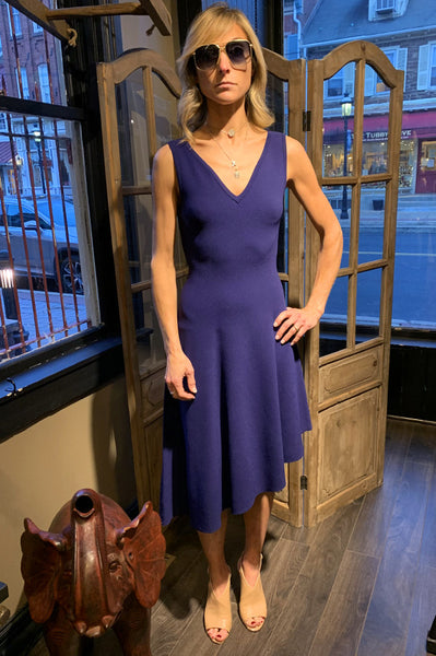 Asymmetrical Dress - Indigo
