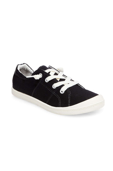 Baailey Fabric Sneaker - Black Fabric