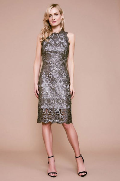 Bera Sequin Embroidered Dress - Dark Pearl