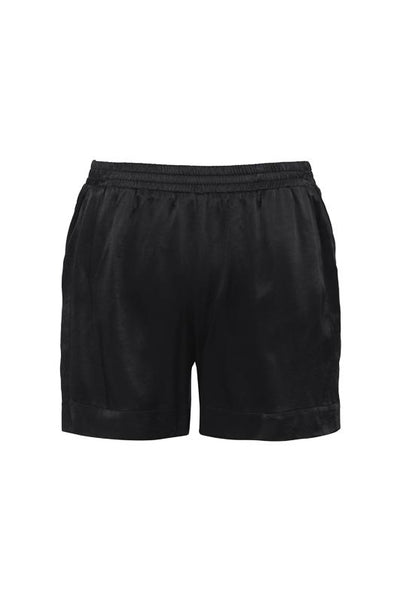 Hayley Silk Shorts - Black