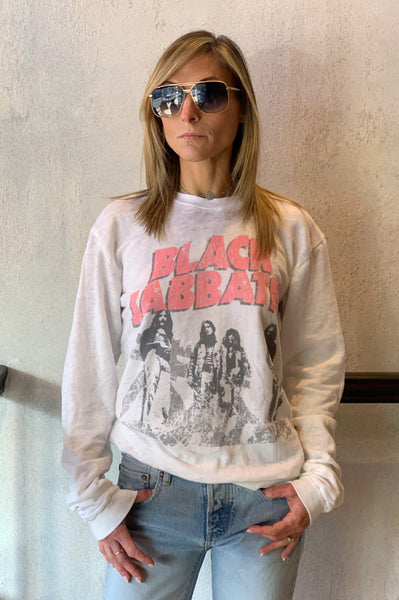 Black Sabbath Band Sweatshirt - White