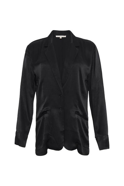 Hayley Silk Blazer - Black