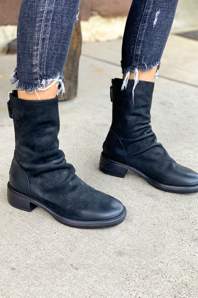 Leather Boot - Nero