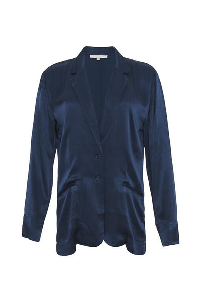 Hayley Silk Blazer - Navy