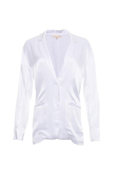 Hayley Silk Blazer - White