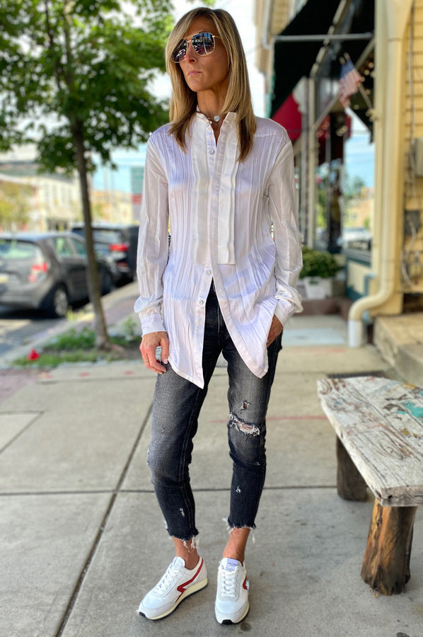 Button Down Blouse - White