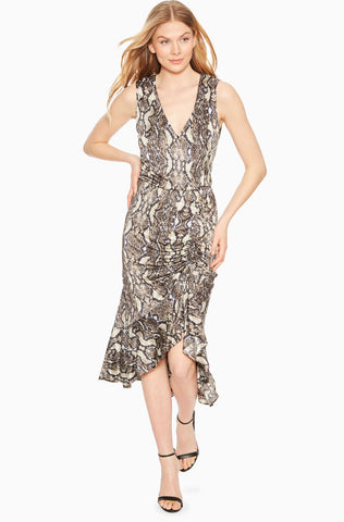 Briony Dress - Neutral Python