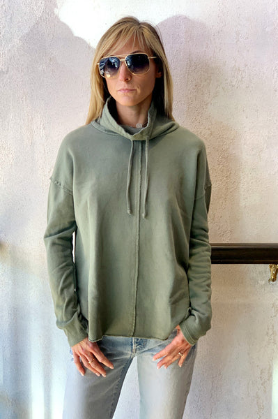 Paris Funnel Sweatshirt - Sage Brush