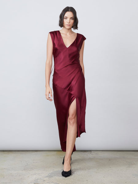 Desiree Open Back Dress - Burgundy