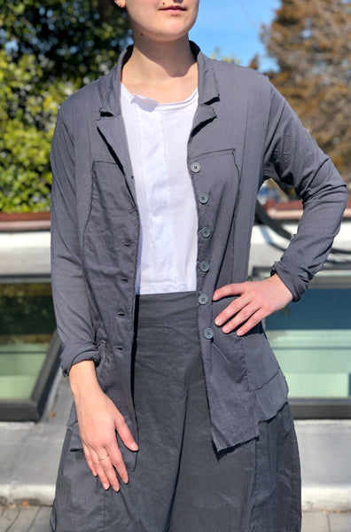 Button Up Jacket - Grey