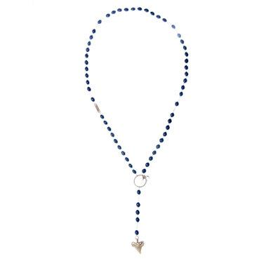 Shark Tooth & Dove Rosary Necklace