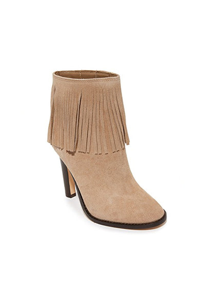 Cambrie Fringe Booties - Gesso
