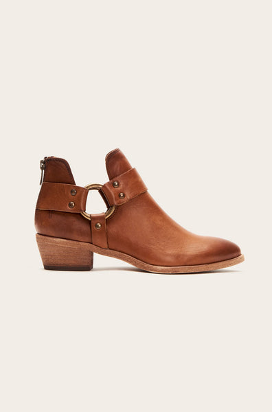 Ray Harness Back Zip Booties - Carmel