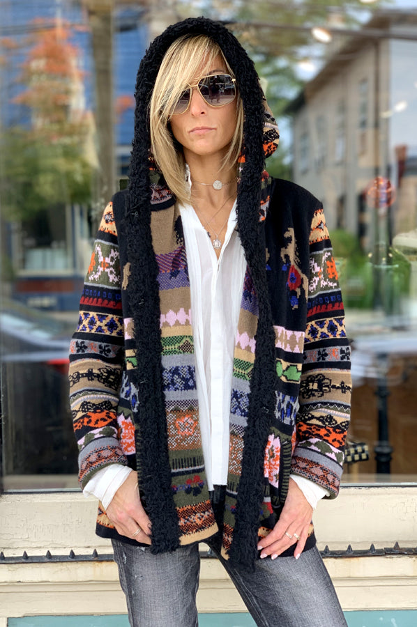 Pattern Short Jacket - Multi