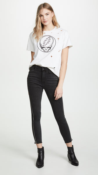 Nina High-Rise Side Zipper Skinny - Carlton