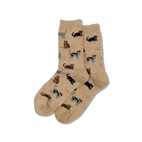 Women's Classic Cat Crew Socks