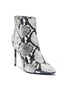 Celyn Snake Skin Bootie - Black / White