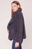 Soft Skills Faux Fur Jacket - Dark Charcoal
