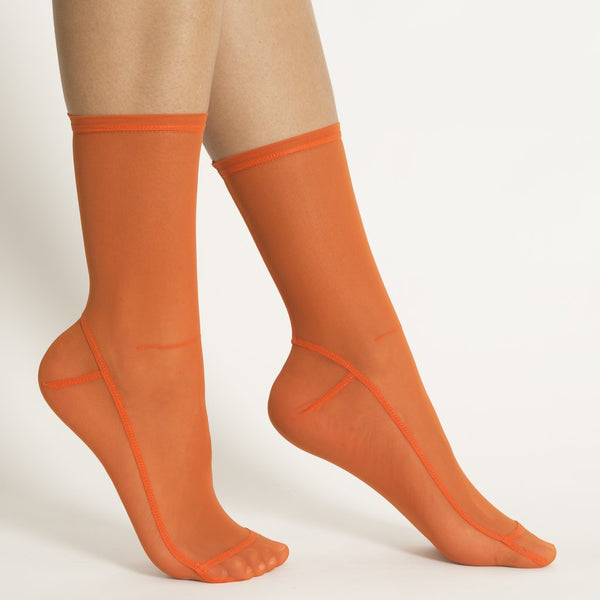 Solid Mesh Socks - Clementine